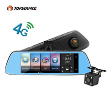 "TOPSOURCE 8"" 4G Special Mirror Car DVR Camera Android 5.1 with GPS DVR Automobile Video Recorder Rearview Mirror Camera Dash Cam"