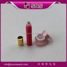 srs small 5g sample cream acrylic jar and 7ml red my bottle metal ball plastik roll on packaging with ALU cap