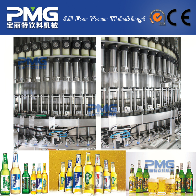 Automatic glass bottle beer bottling machine / plant / equipment