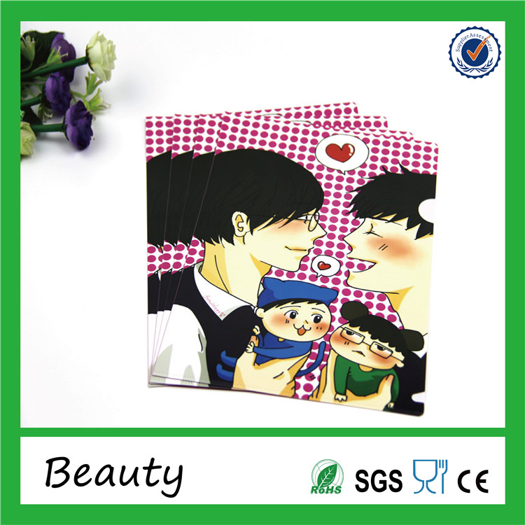 Custom Plastic PP A3 beautiful file folder for advertising and promotional