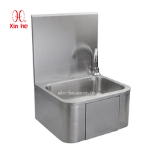 Knee Operated Commercial Hand Wash Sink, Stainless Steel Knee Operated Hand Sink Hand Wash Basin