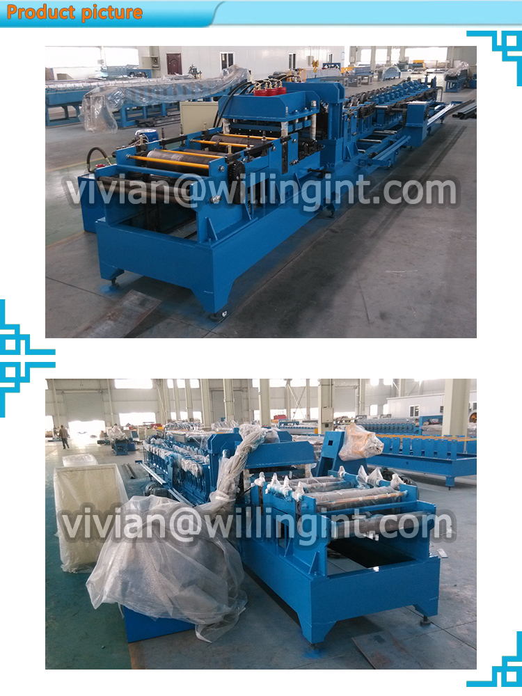 High quality automatic metal galvanized steel c z shape purlin making machine for roof structure
