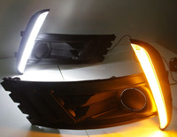 2017 New arrived!Auto accessories led daytime running light for Toyota Corolla/Altis ,Cob amber color Corolla fog lamp