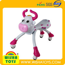 Pink Cow Trike Scramble Bug Ride on car bike With Music & Lights