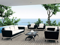 Outdoor plastic rattan sofa set JX-2097