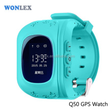 Wonlex Multi function Children anti-kidnapping gps watch phone sos panic button real time gps locator tracking