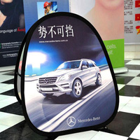 Outdoor advertising printing golf pop up a frame banner