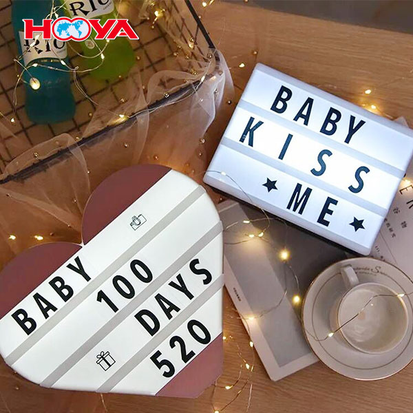 A2 A3 A4 A5 size cinema  light box with letters for decoration