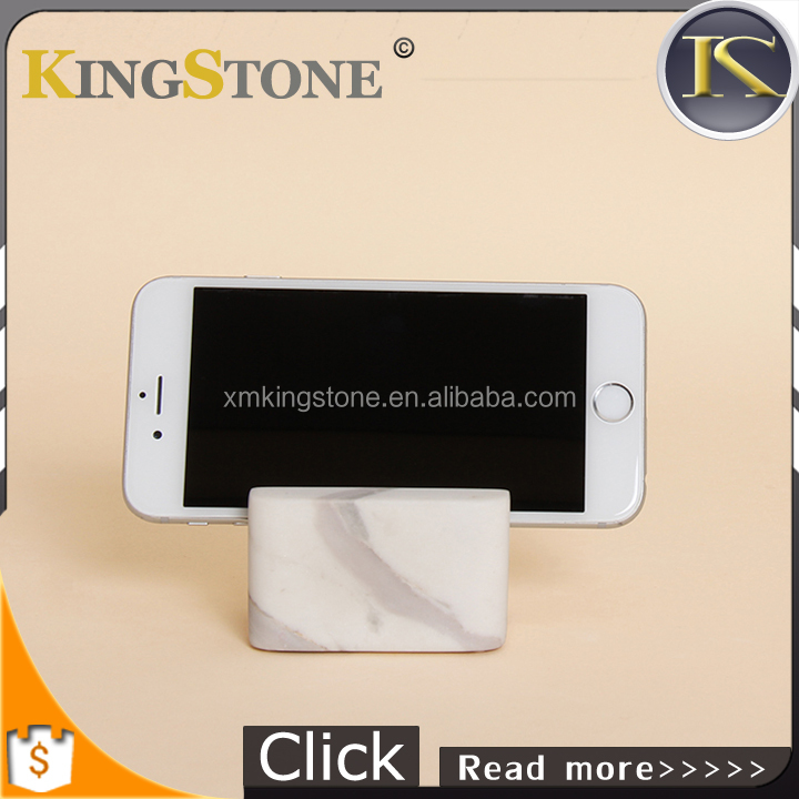 Free your hand marble stone mobile phone holder