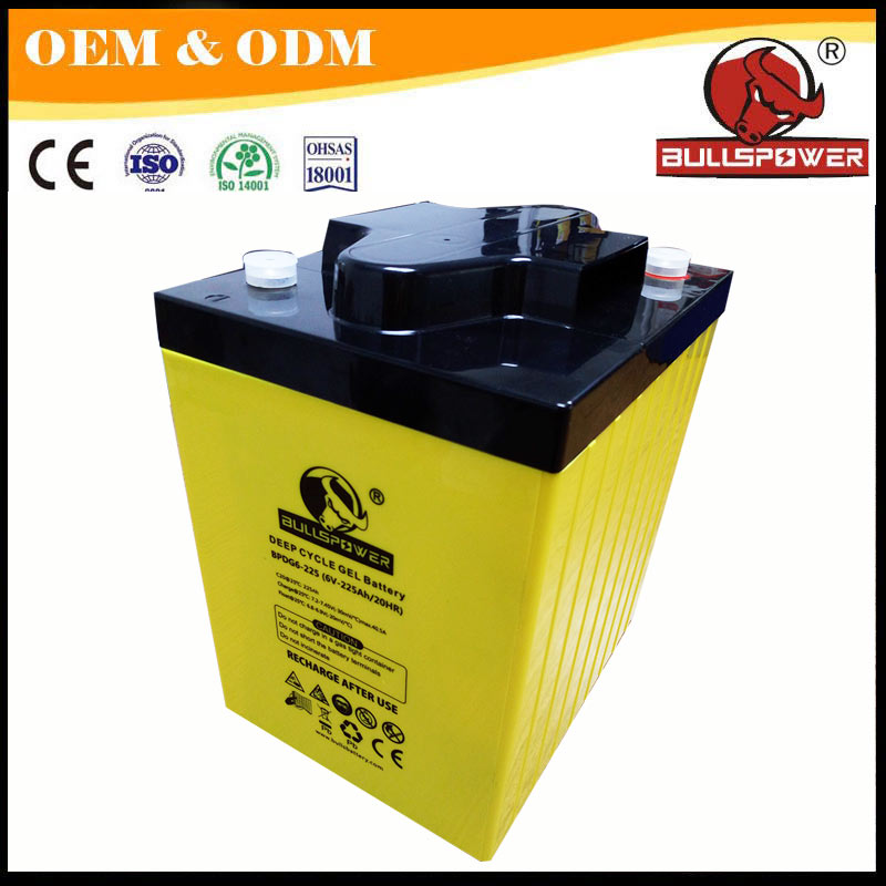 24V 48V solar energy gel storage 225ah deep cycle 6v 220ah agm battery
