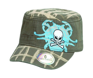 Vintage BDU Fatigue Combat Hat (Green Woodland Camo) ,camo army military caps and hats