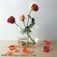 Home decorative of clear acrylic vases