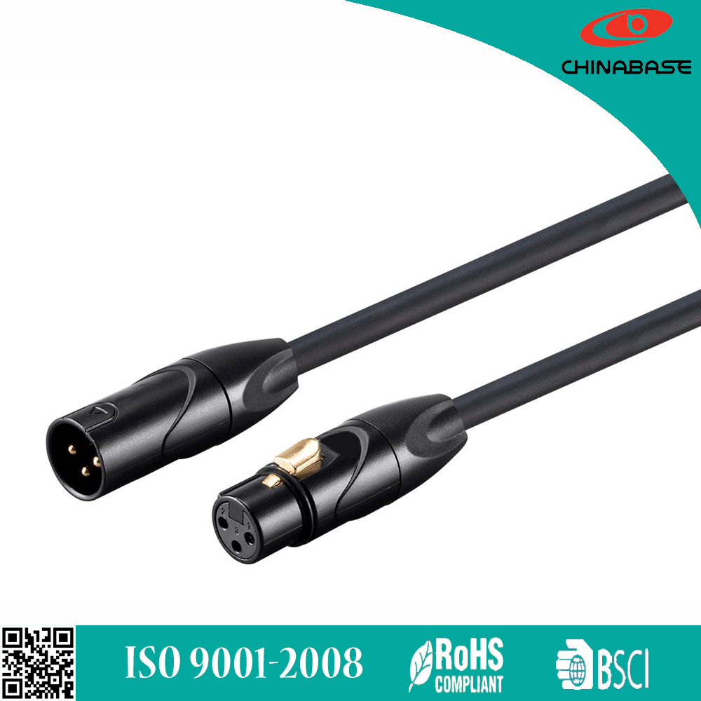 CHINABASE high quality 3pin jack to plug XLR wire
