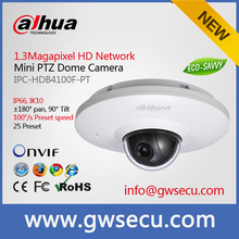 Vandalproof dahua 3mp HD IP Mini Pan/Tilt Dome Camer 3.6mm lens