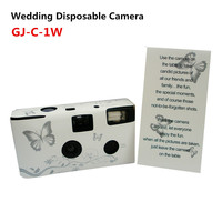 35MM Wholesale Disposable Camera Wedding with Flash and Alkaline Battery with FUJI Color Film 200ASA36EXP Indoor/Outdoor Used
