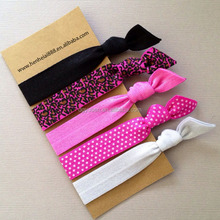custom hair elastic band with logo for kids