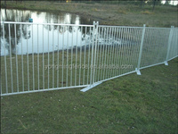 good quality water filled pool swimming safety guard metal temporary fence (1.2m high pool fencing)