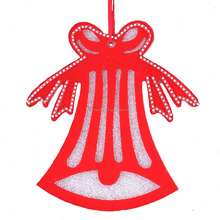 red color hanging christmas bell decoration