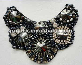 neck designs for ladies suit, embroidery motif designs,garment patch,beads neckline,mesh collar