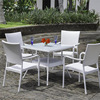 Sailing High End White Plastic Rattan Garden Chairs And Tables