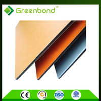 Greenbond lowest price acp aluminum cladding sheets color can be customized with perfect quality