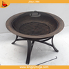 30 inch Round Cast Iron Copper Finish Fire Pit with Screen