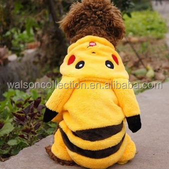 Winter pet apparel Pikachu Jacket Cute Pet & Dog Cat Coat Puppy Apparel Outfit Clothes Pikachu Coat Fancy Costume
