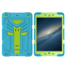 Heavy duty Kidsproof cool transformer bumper guard case for iPad mini 1 2 3 with screen protector