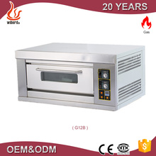 Stainless steel 1 deck/ 2trays commercial gas baking oven