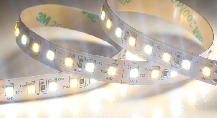 CE RoHS 24V Double white  3000K 6000k  LED Strip 2835