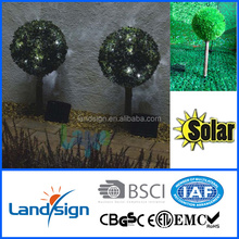 solar light manufacturer led landscape solar lights decorative solar topiary bush tree ball light for garden/outdoor