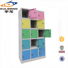 Different Color Steel Almirah 15 Door Small Metal Locker for Kids