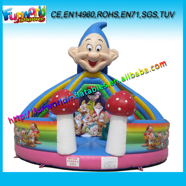 6M Hot Sale Inflatable Bouncer and Slide/ Inflatable Trampoline With Basketball Hoop