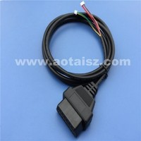 J1962 obd 2 female connector cable with 2 socket diagnostic tools for cars