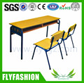 SF-08D High Quality School Furniture Detachable Double Desk and Chair Classroom Chairs