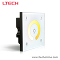 LED touch panel controller DMX CT controller 220V 2.4G wireless wall dimmer
