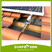 pv tile roof mounting system for solar modules