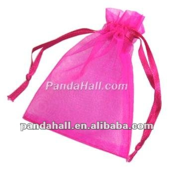 Cheap Fabric Organza Ribbon Jewelry Bags for Valentine Gift(OP111-8)