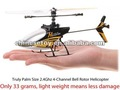 good quality 23cm 2.4Ghz 4 ch single blade rc helicopter with gyro
