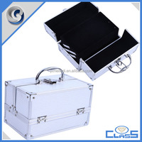 MLD-AC3141 Silver Mini high quality aluminum travel jewelry case for display