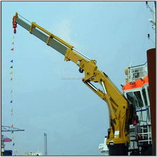 Hydraulic knuckle jib boom offshore deck crane for sale