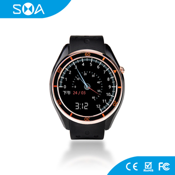 2017 Android 5.1 MTK6580 Amoled Screen GPS Smart Watch With SIM Card