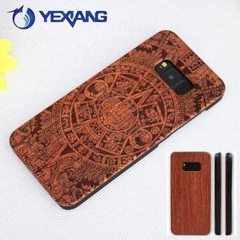 2017 trending products real nature custom design blank wood cases for samsung s8 plus case