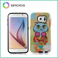 Hard Plastic PC Soft TPU Printable Custom Design Cell Phone Case for Samsung Galaxy S7