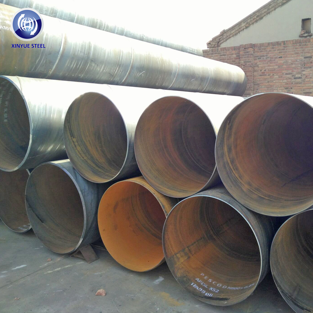 200 kilometer pipe line API5L Gr.b X42 X52 SCH 40 ssaw spiral welded plastic coated steel pipe