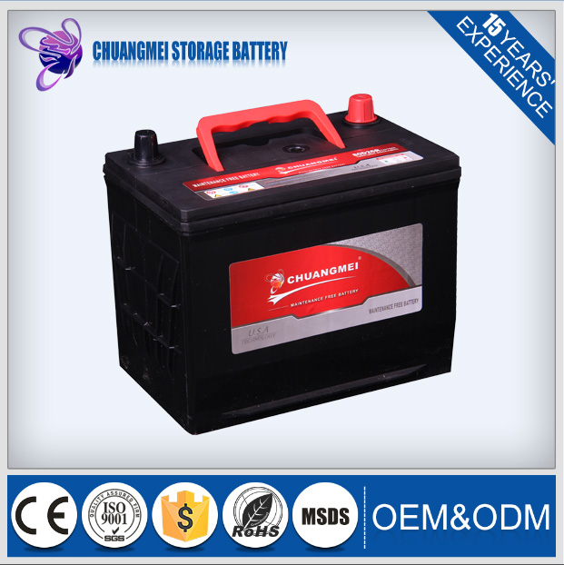 TRADE ASSURANCE SUPLIER Maintenance Free car battery manufacturing 80D 26R 12V Largestar
