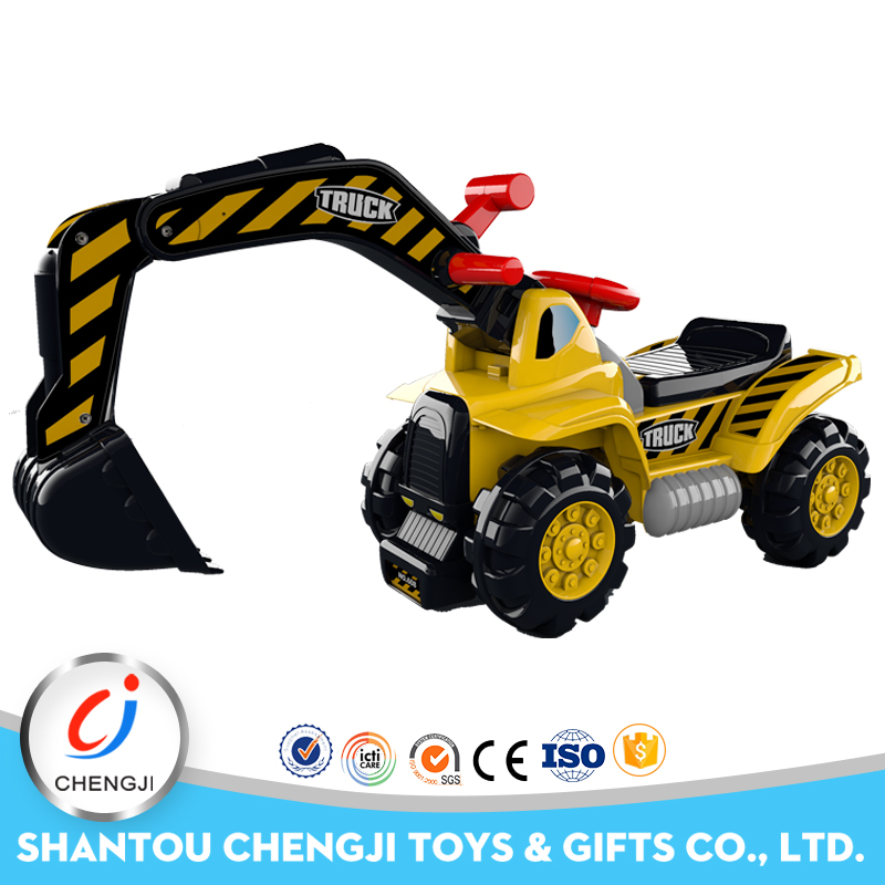 Most attractive factory supply wheel car kids ride on toy excavator