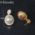 OB Jewelry-Fine Plastic Pearl Earrings Real Gold Plating Earrings Designs For Girls