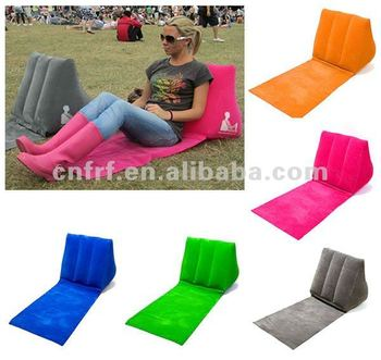2016 hot-selling Wicked Wedge/Inflatable Backrest Pillow/Inflatable Wedge Back Support Pillow/Beach wedge backrest pillow