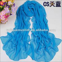 CL016 beautiful summer scarf,plain muslim long scarf